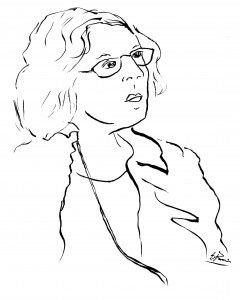 Sketch by Eddith Buis, Great Plains Theatre Conference, 2014